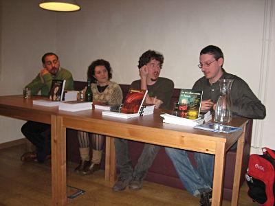 David Marugán, Nuria C.Botey, Juan Ángel Laguna y Aitor Solar
