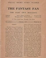 Último número de The Fantasy Fan, febrero de 1935.